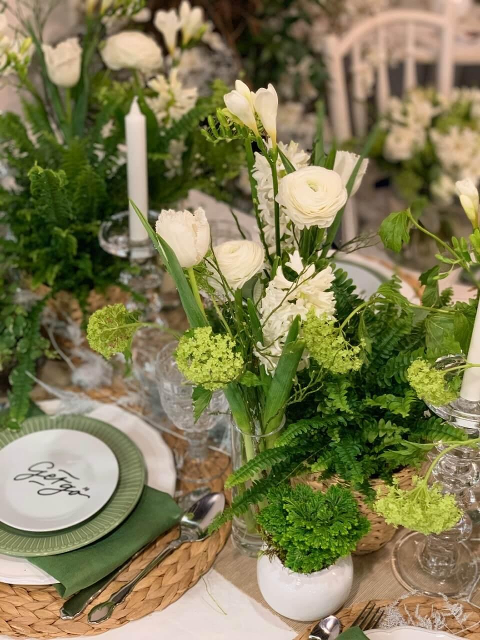 esküvői árajánlatkérés - asztaldísz