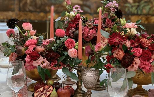 rusztikus esküvői asztaldísz